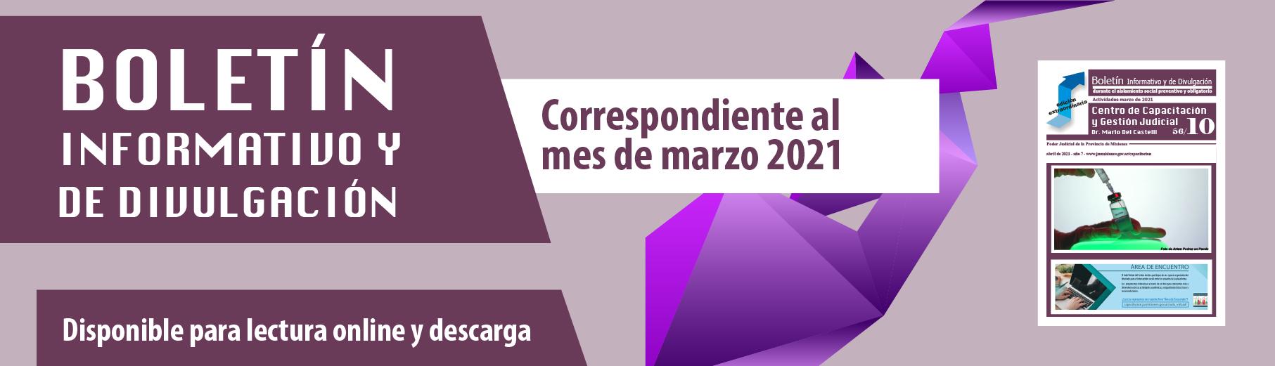 Boletín Informativo de marzo 2021