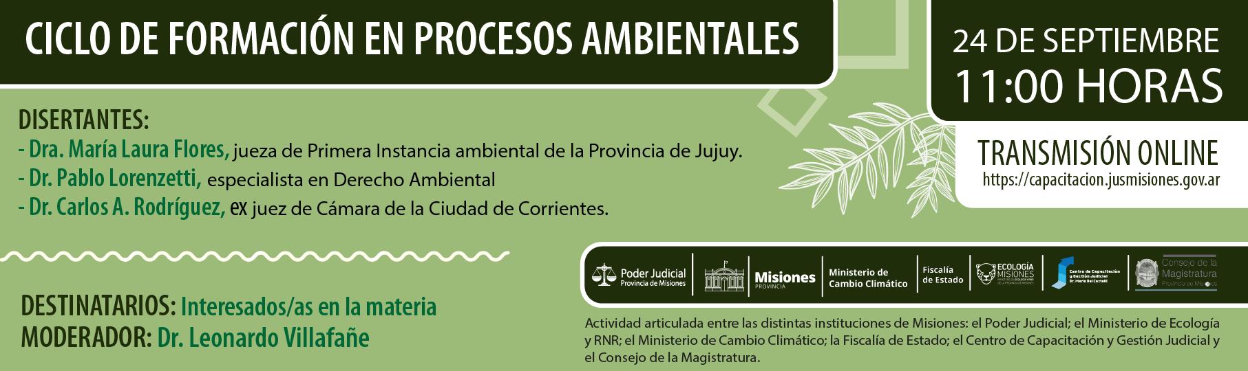 Ciclo de Formación en Procesos Ambientales
