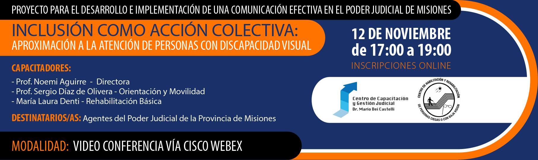 Inclusión como acción colectiva: aproximación a la atención de personas con discapacidad visual