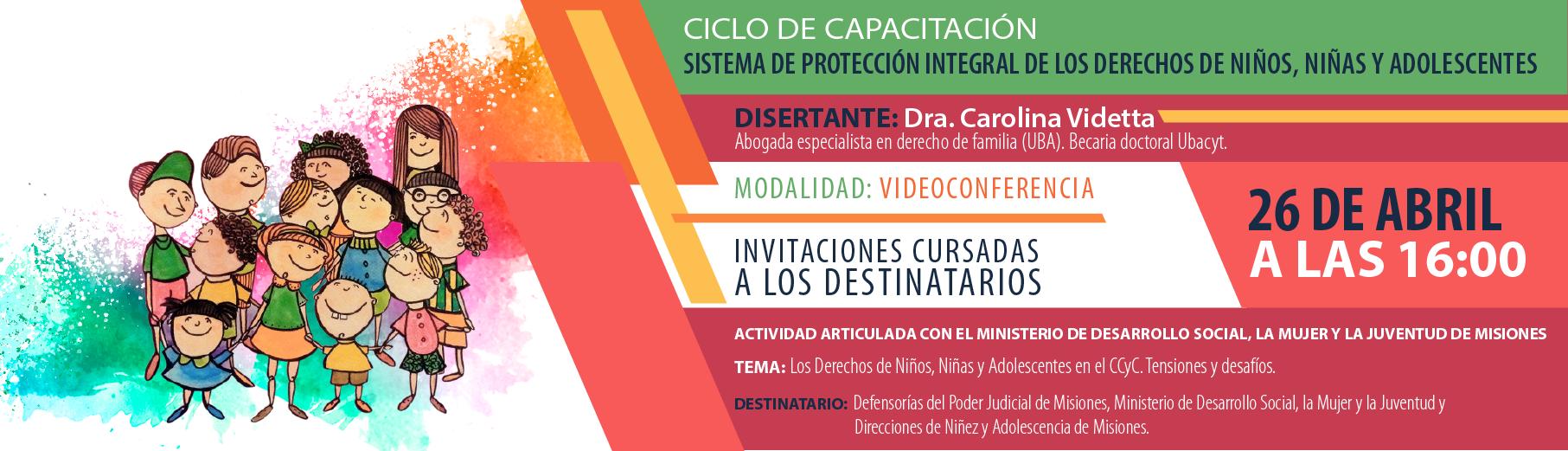 Ciclo de Capacitación: Sistema de protección integral de los Derechos de Niños, Niñas y Adolescentes