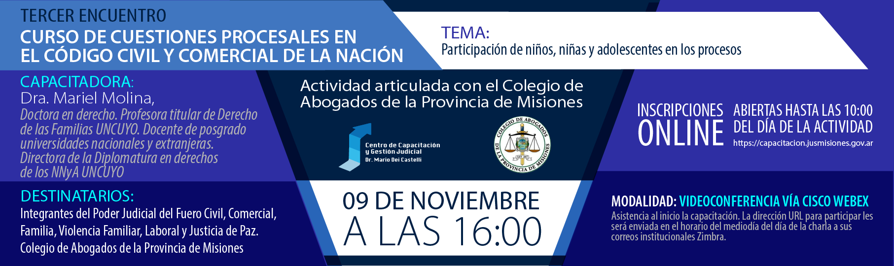 Tercert Encuentro: Curso de Cuestiones Procesales en el Código Civil y Comercial de la Nación