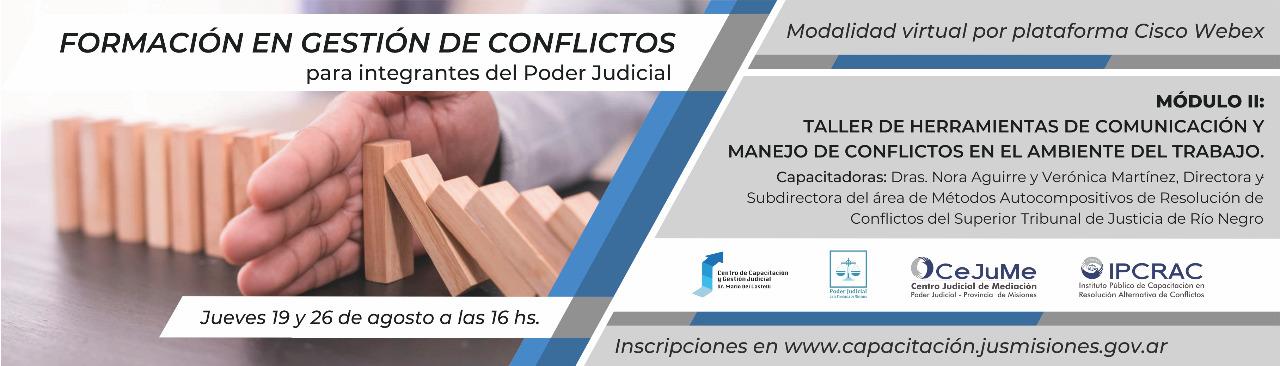 Formación en gestión de conflictos. Para integrantes del Poder Judicial