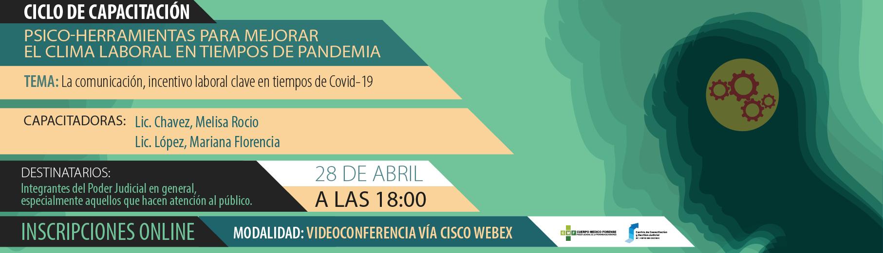 Ciclo de charlas: Psico-Herramientas para mejorar el Clima Laboral en Tiempos de Pandemia