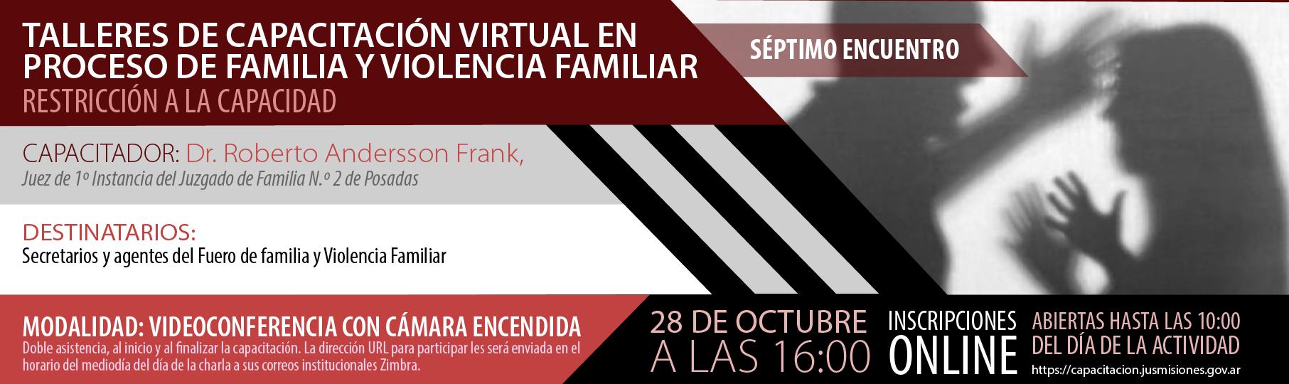 Talleres de capacitación virtual en Proceso de Familia y Violencia Familiar