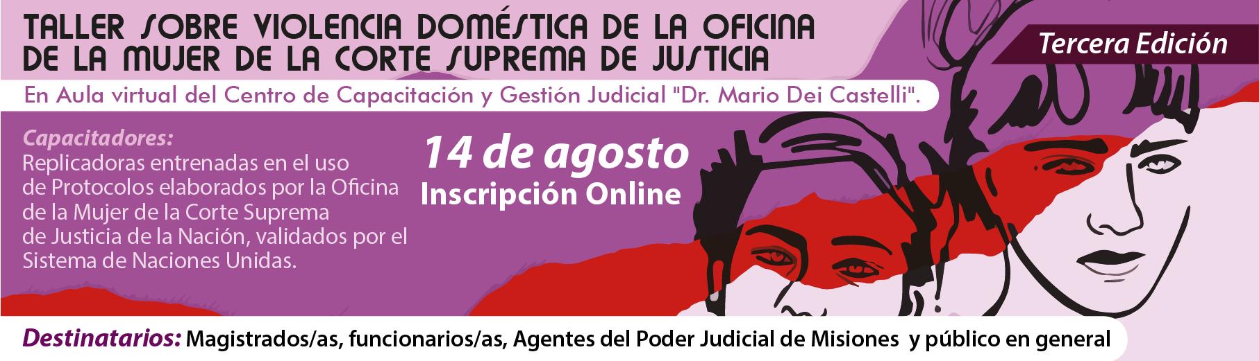 3ra Edición del Taller sobre Violencia Doméstica de la Oficina de la mujer de la Corte Suprema de Justicia