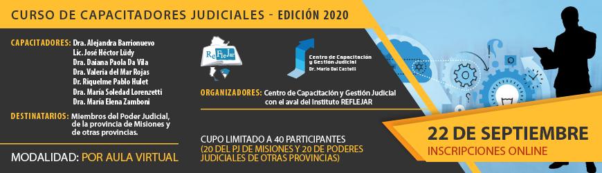 Curso de Capacitadores Judiciales - Edición 2020
