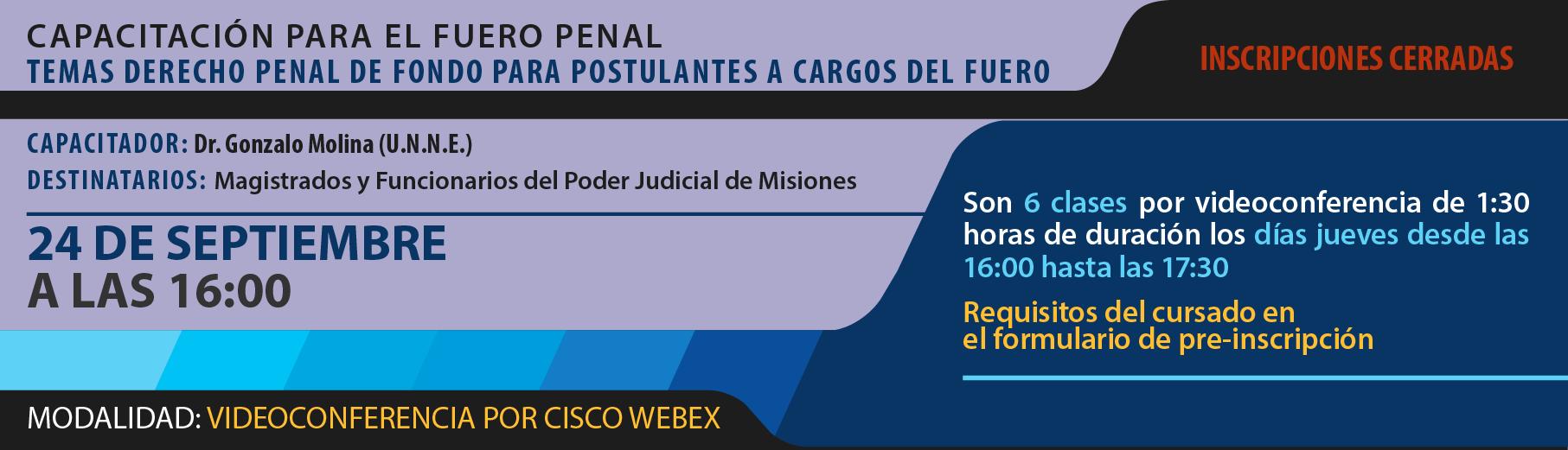 Capacitación para el Fuero Penal - Temas Derecho Penal de Fondo para Postulantes a Cargos del Fuero