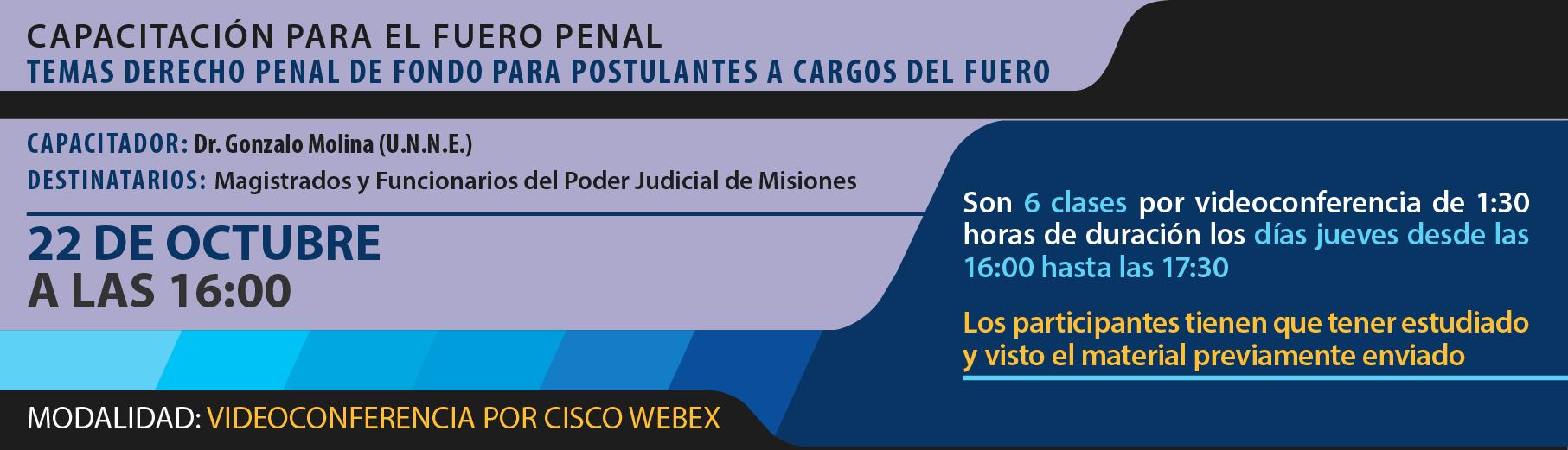 Capacitación para el Fuero Penal Temas Derecho Penal de Fondo para Postulantes a Cargos del Fuero - segunda clase
