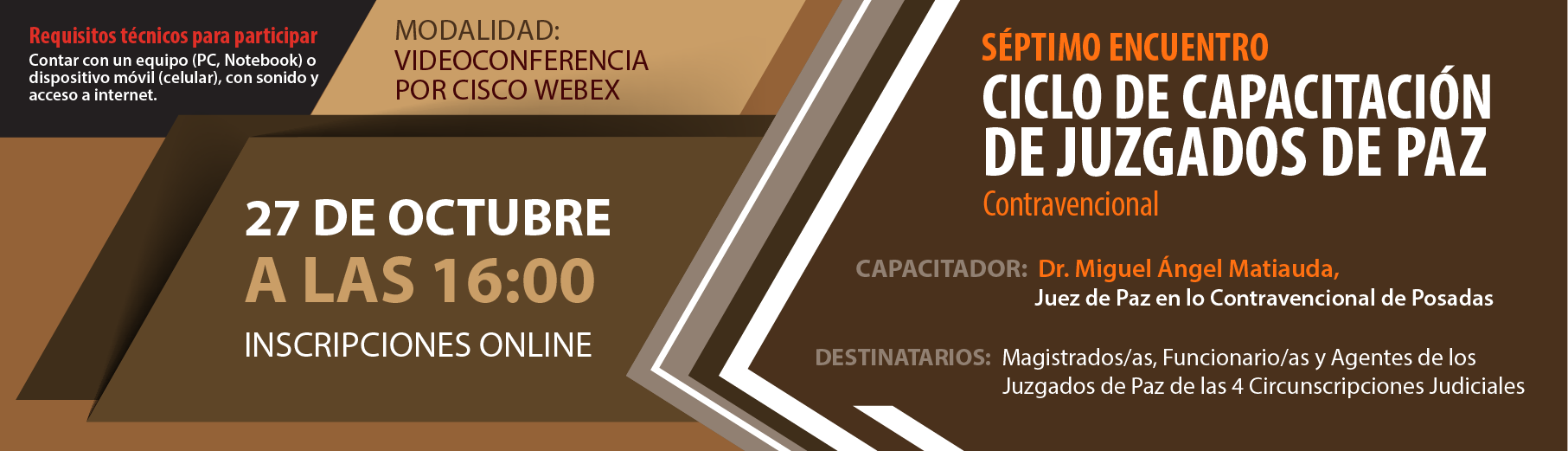 """Ciclo de Capacitación de Juzgados de Paz """"Contravencional"""" - 7mo Encuentro"""