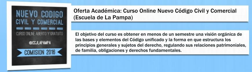 Curso Online Nuevo Código Civil y Comercial ( Escuela de La Pampa)
