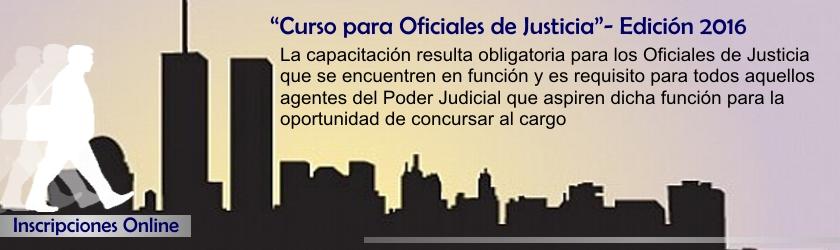 """""""Curso para Oficiales de Justicia""""- Edición 2016"""
