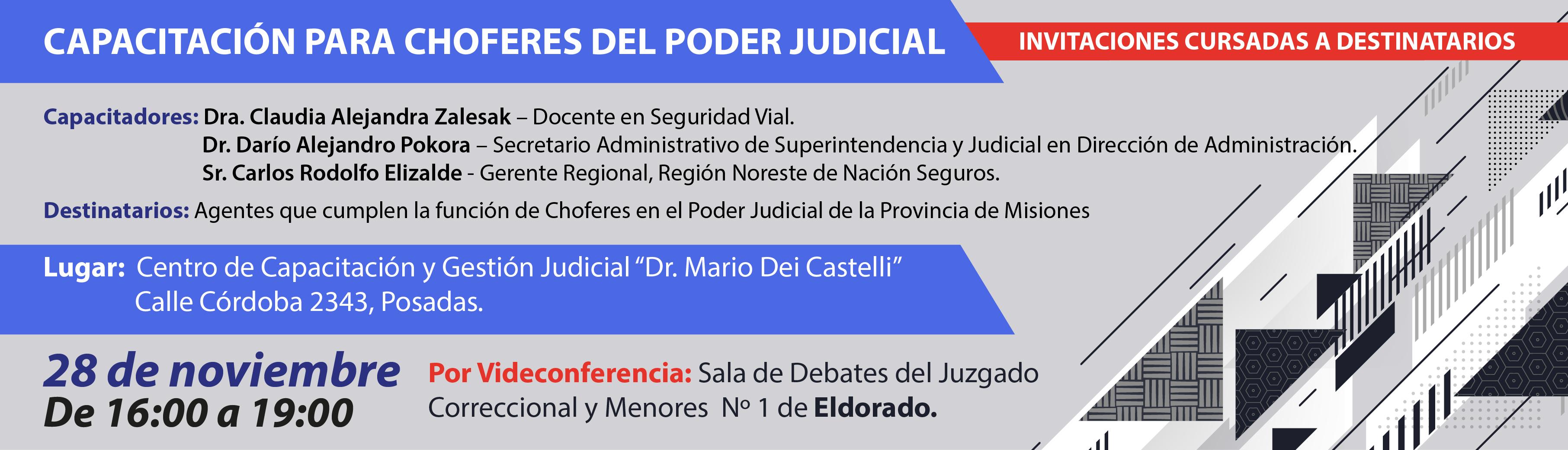 Capacitación para Choferes del Poder Judicial